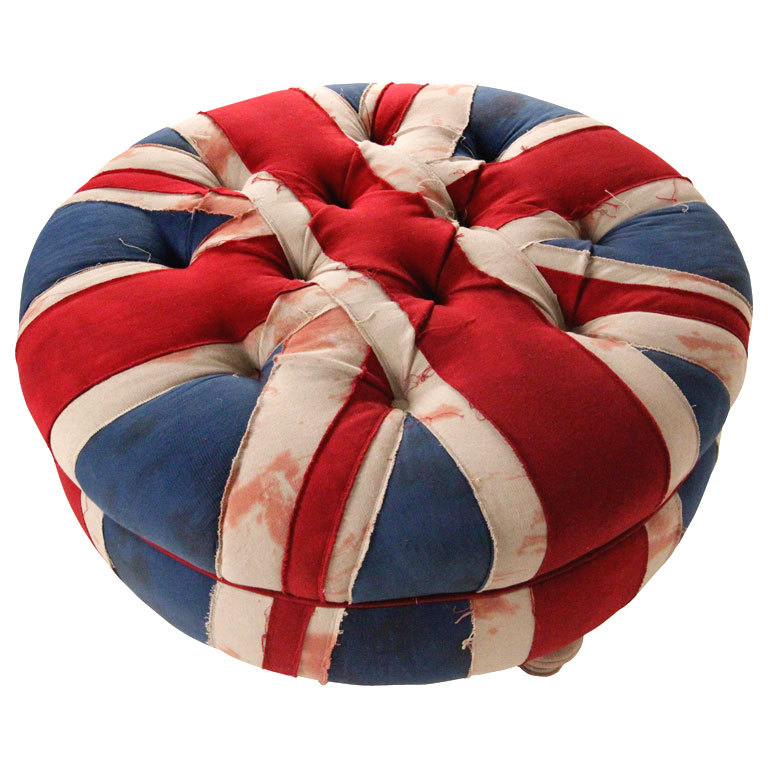 Union Jack Ottomans