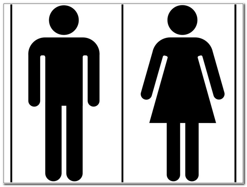 Unisex Bathroom Sign Vector