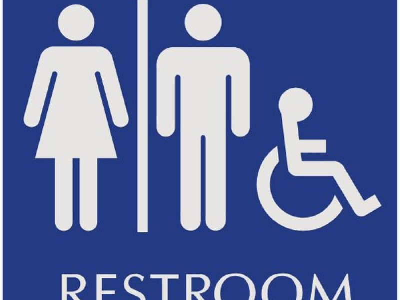Unisex Bathroom Signage