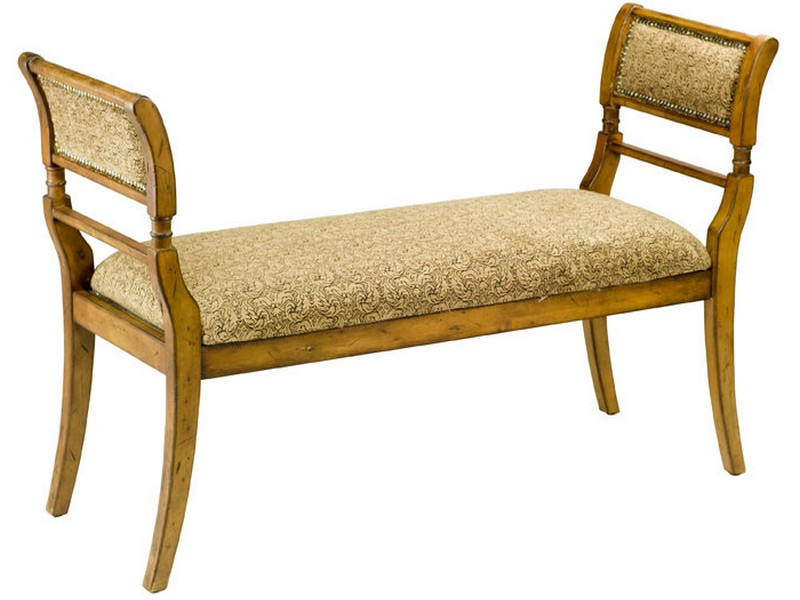 Upholstered Bench With Arms