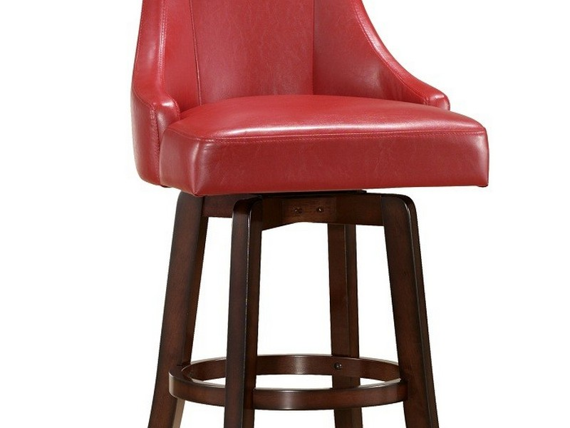 Upholstered Swivel Bar Stools With Backs