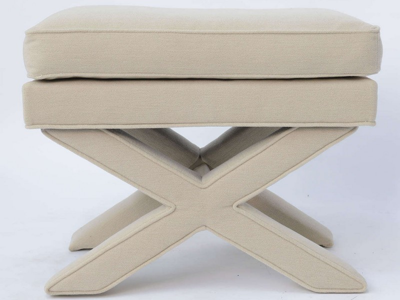 Upholstered X Bench