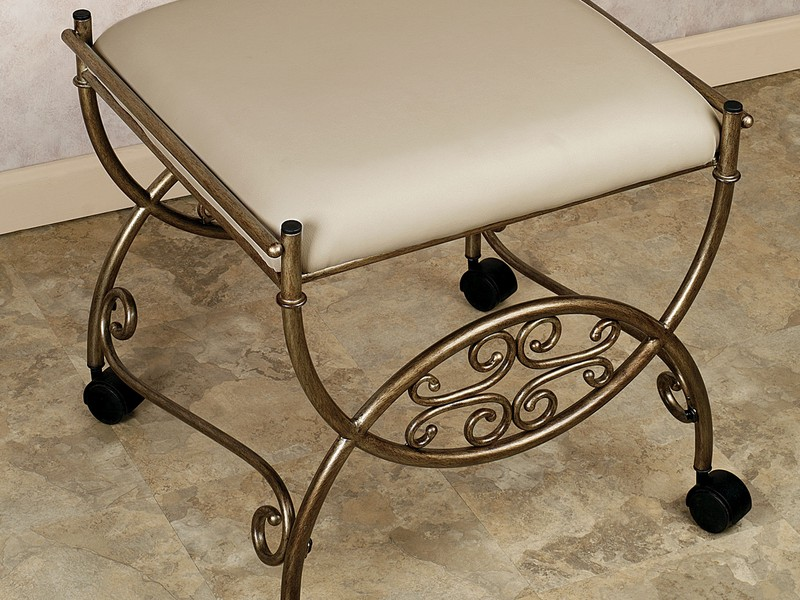 Vanity Stool For Bathroom With Wheels