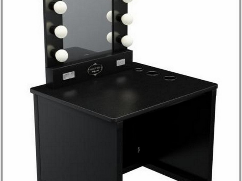 Vanity Table With Lighted Mirror