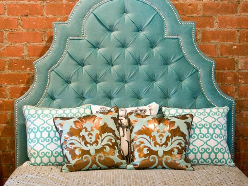 Velvet Tufted Headboard King