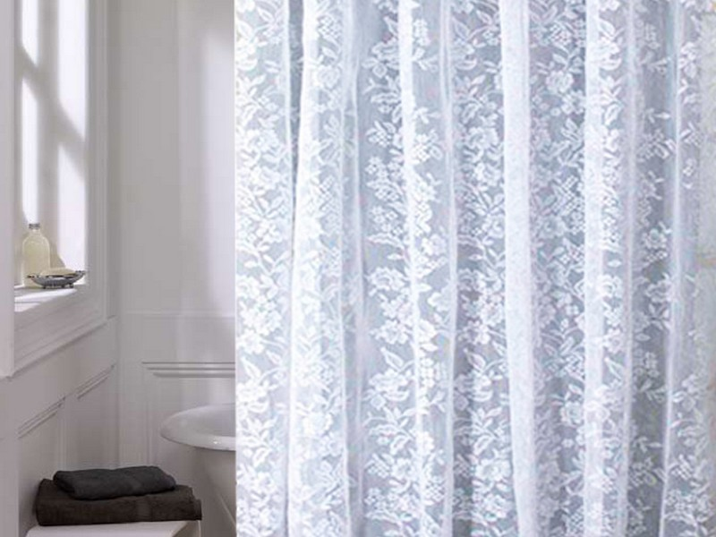 Victorian Lace Shower Curtains