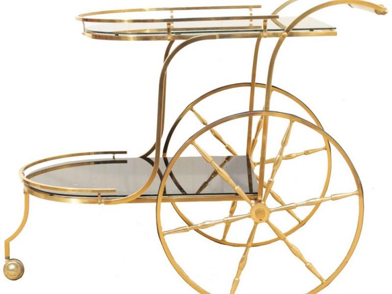 Vintage Brass Tea Cart
