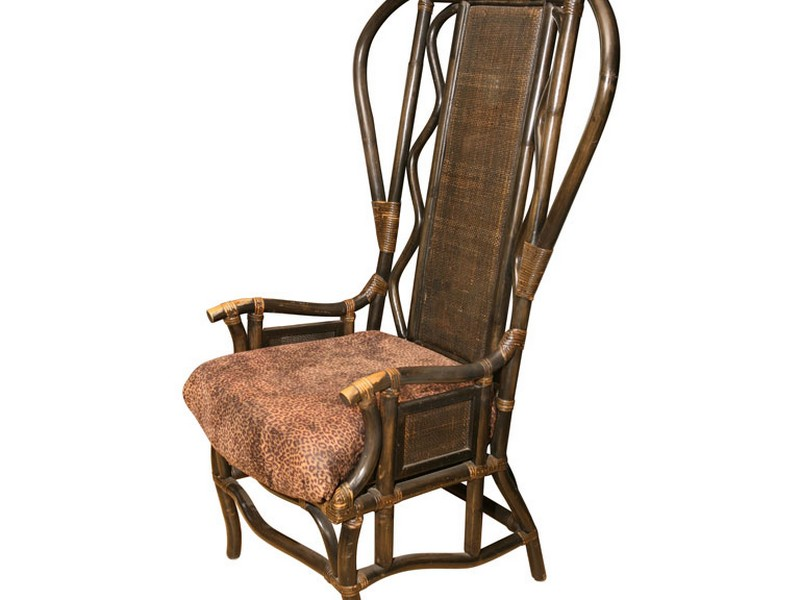 Vintage High Back Wicker Chair