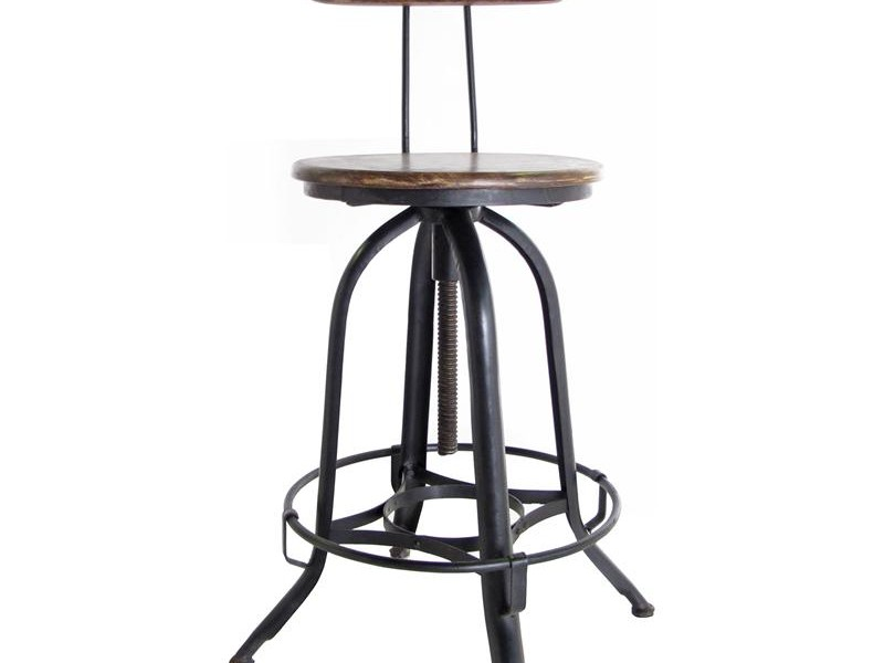 Vintage Metal Bar Stools With Back