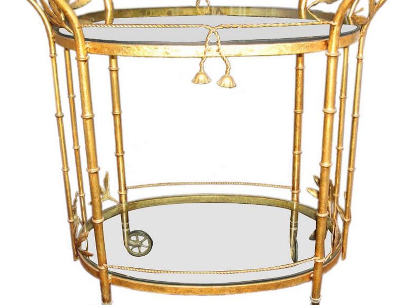 Vintage Round Bar Cart