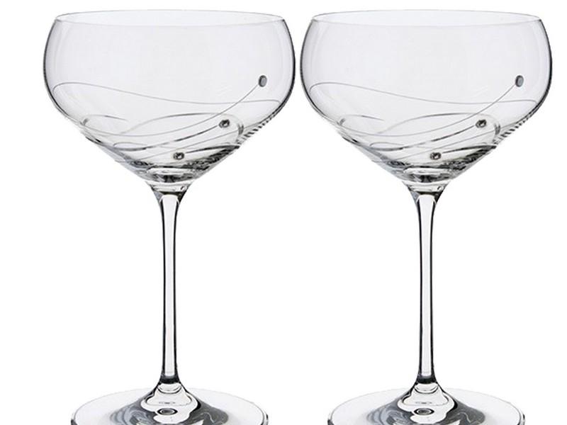 Vintage Saucer Champagne Glasses