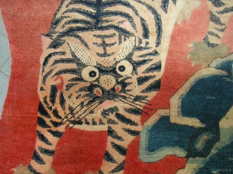 Vintage Tibetan Tiger Rug