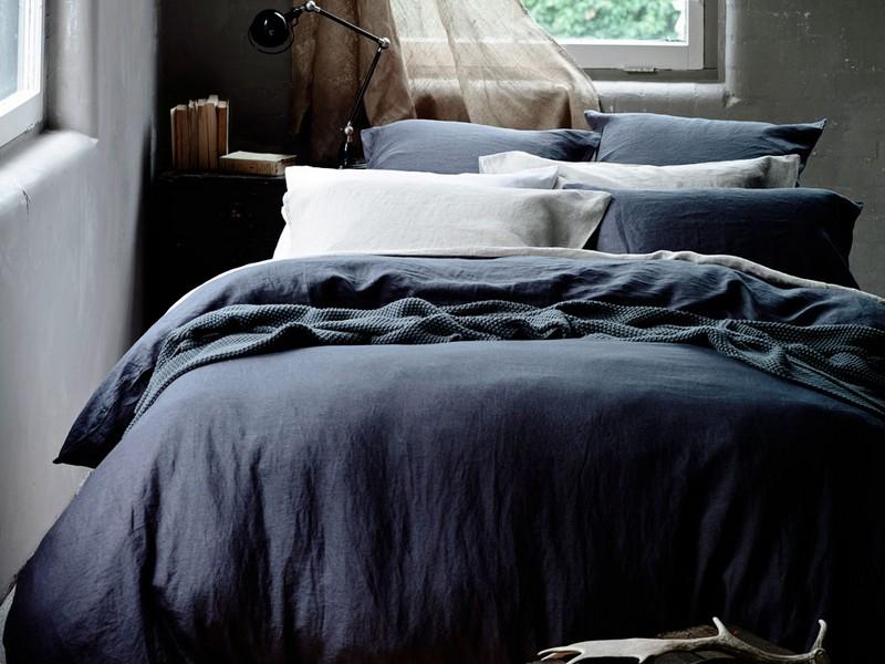 Vintage Washed Belgian Linen Duvet Cover