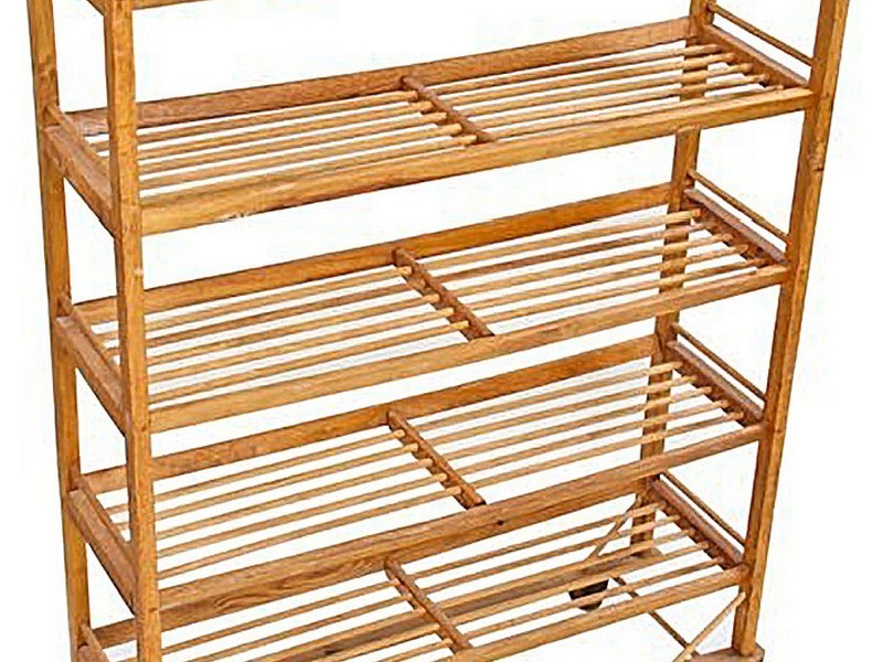 Vintage Wooden Bakers Rack