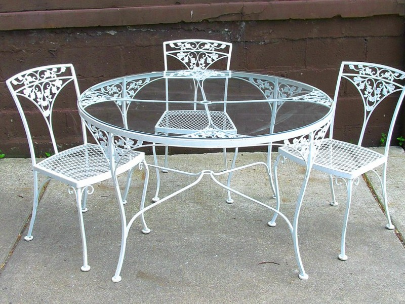 Vintage Wrought Iron Table And Chairs