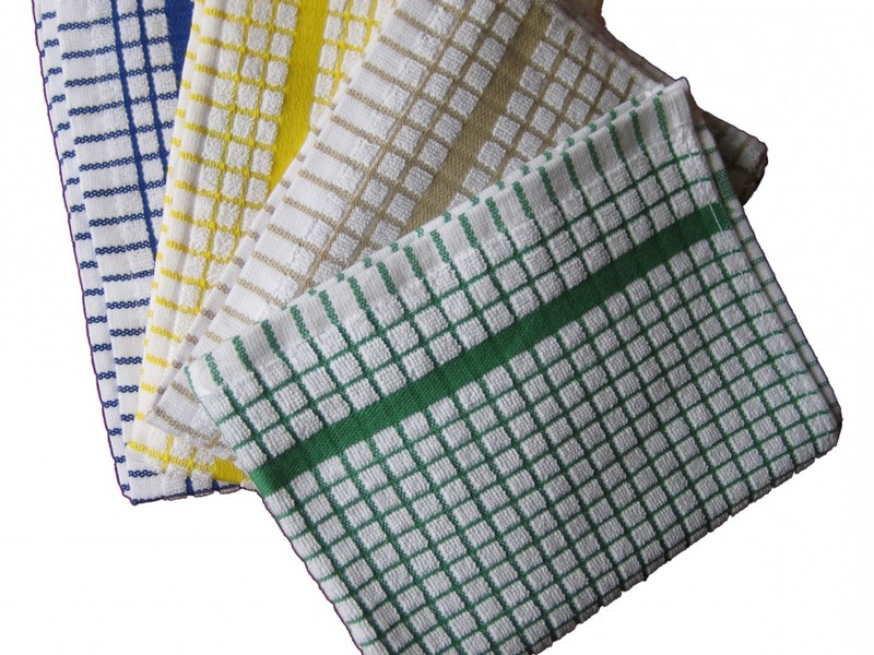 Waffle Weave Kitchen Towels White