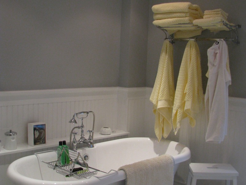 Wainscoting Bathroom Gray