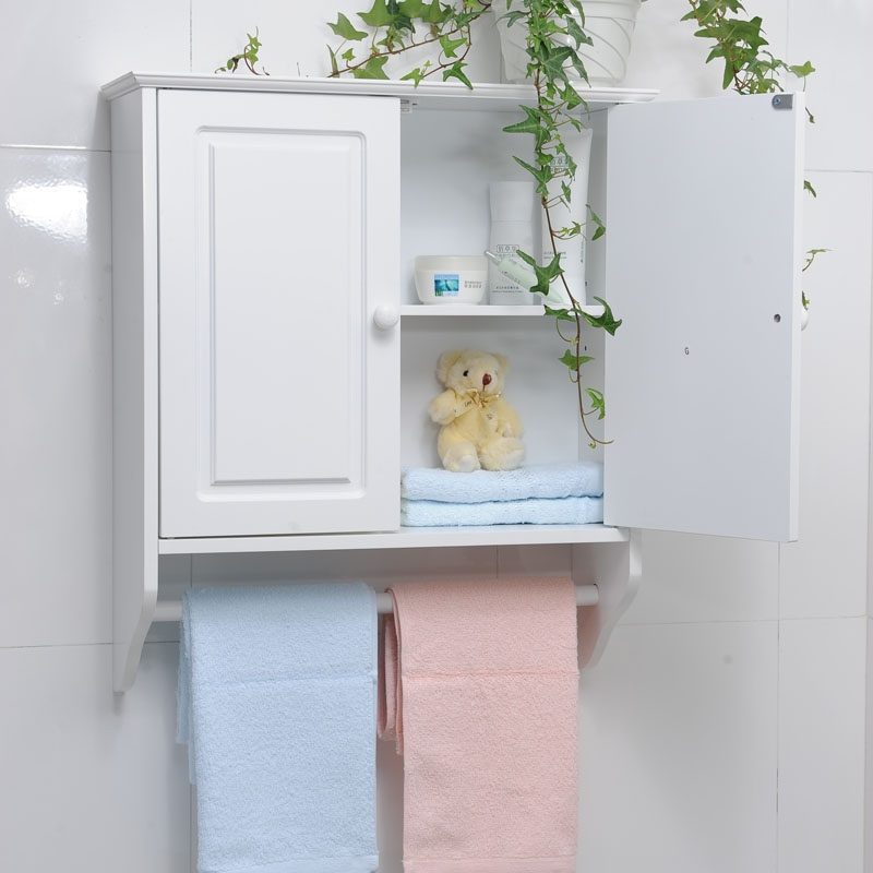 Wall Cabinet With Towel Bar