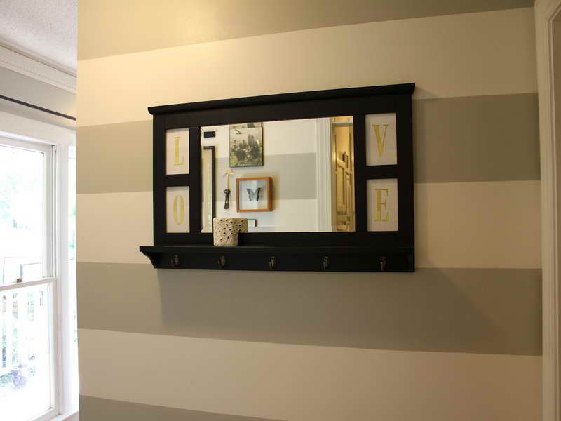 Wall Mirror With Hooks And Shelf