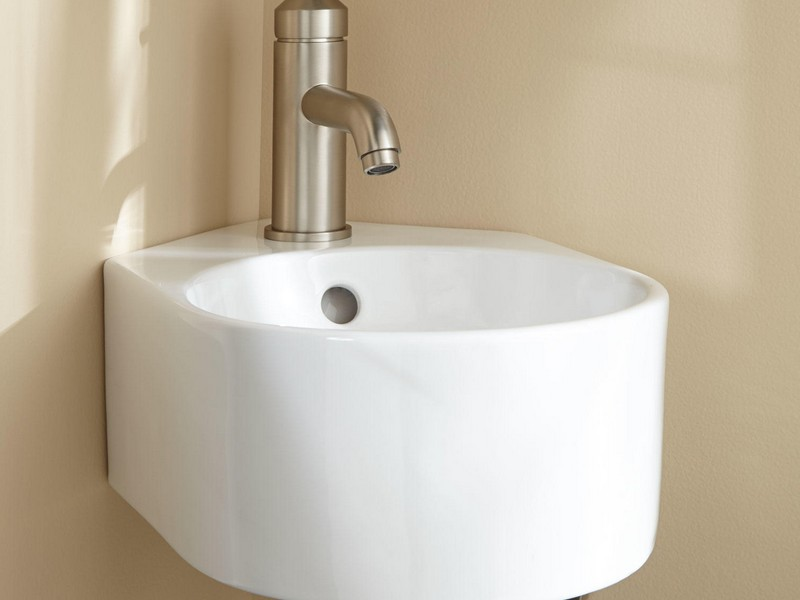 Wall Mount Bathroom Sink With Backsplash