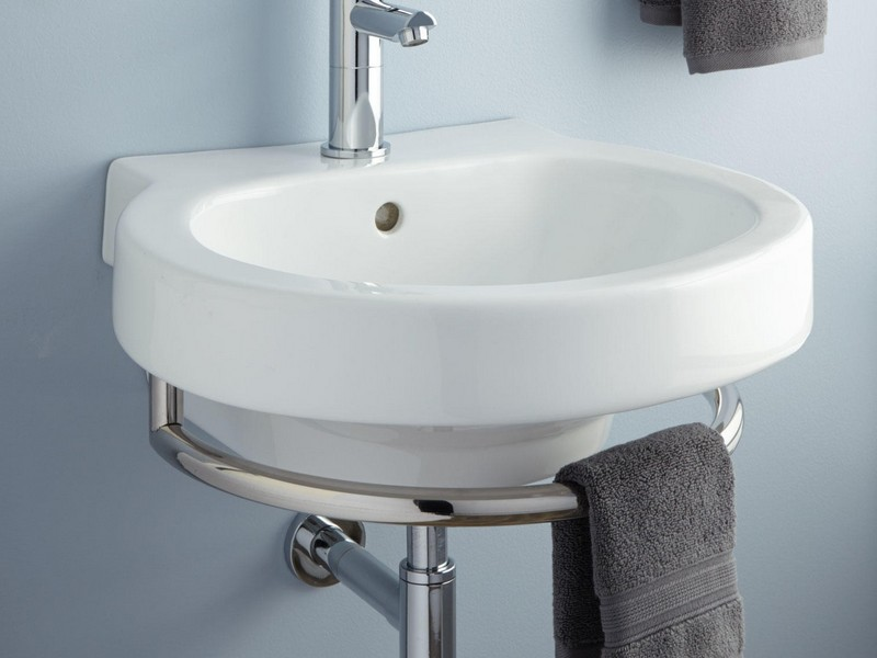 Wall Mount Bathroom Sink With Towel Bar