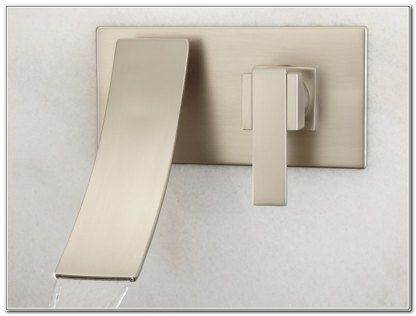 Wall Mounted Bathroom Faucets Brushed Nickel