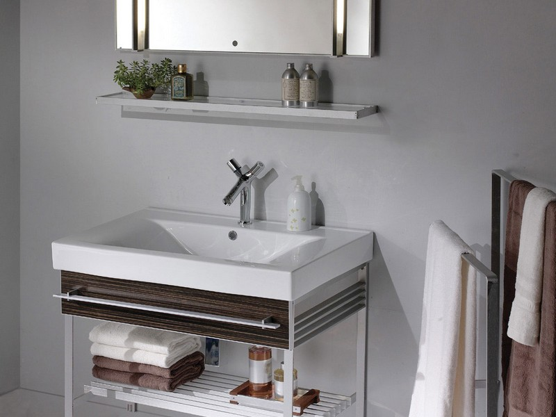 Wall Mounted Bathroom Sink Storage