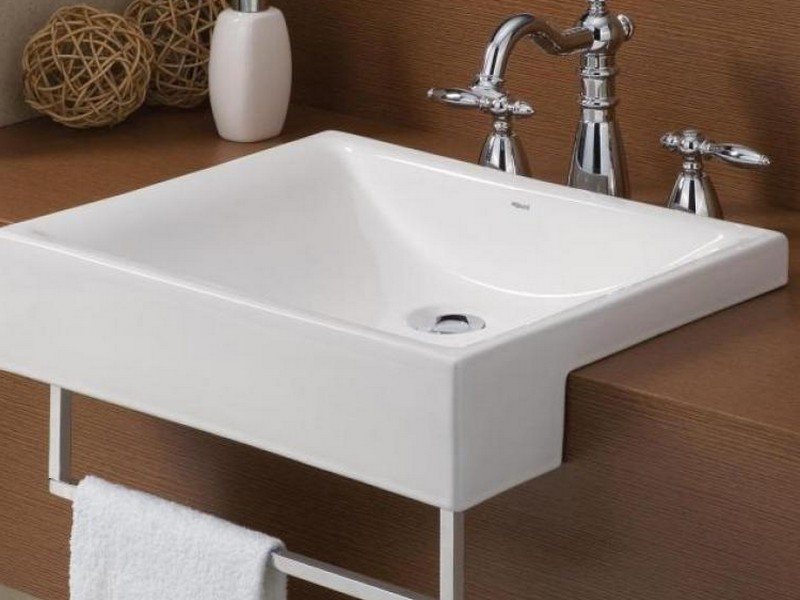 Wall Mounted Bathroom Sinks With Towel Bar