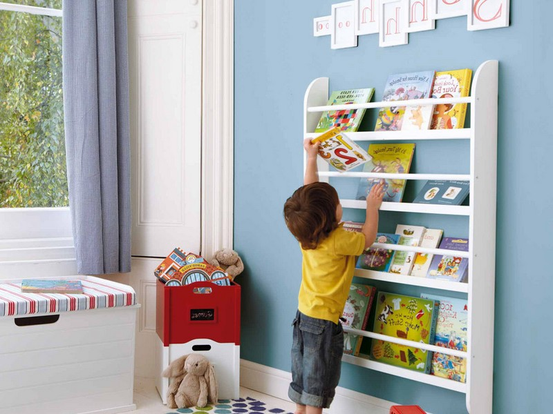 Wall Mounted Bookcase For Kids