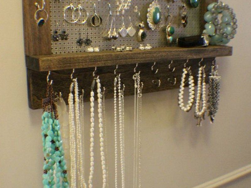 Wall Mounted Jewelry Storage