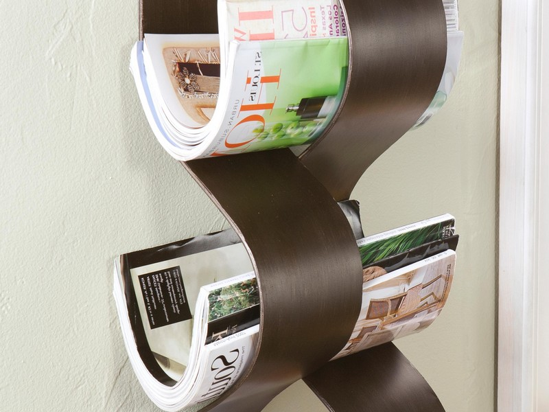 Wall Mounted Magazine Rack Bathroom