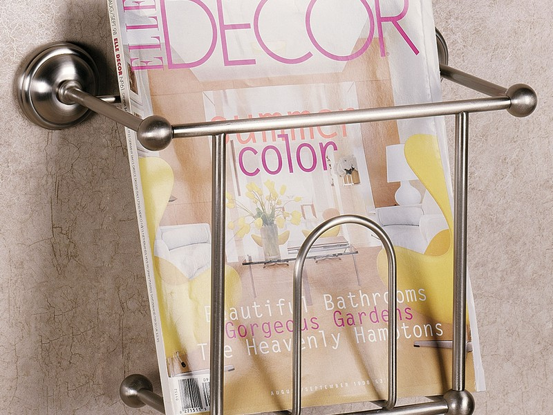 Wall Mounted Magazine Rack For Bathroom