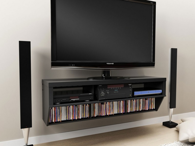 Wall Mounted Media Storage Cabinet