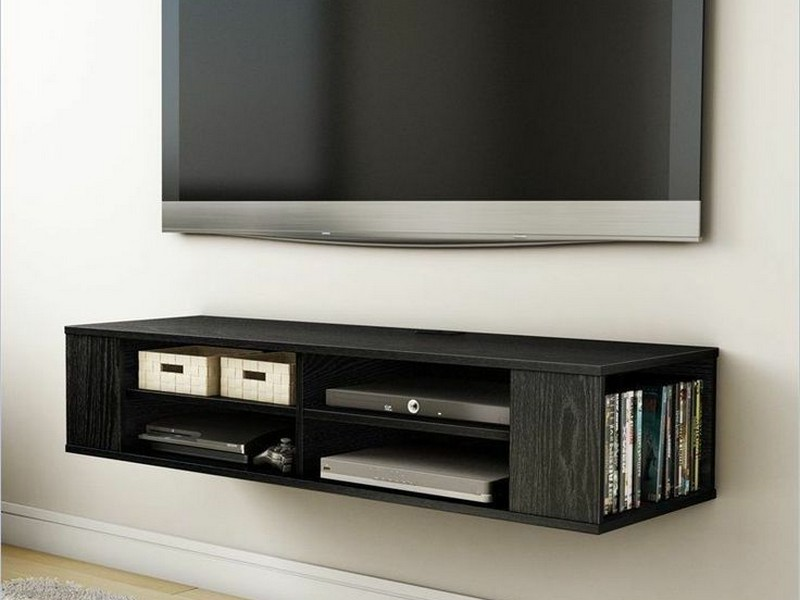 Wall Mounted Media Storage Shelves