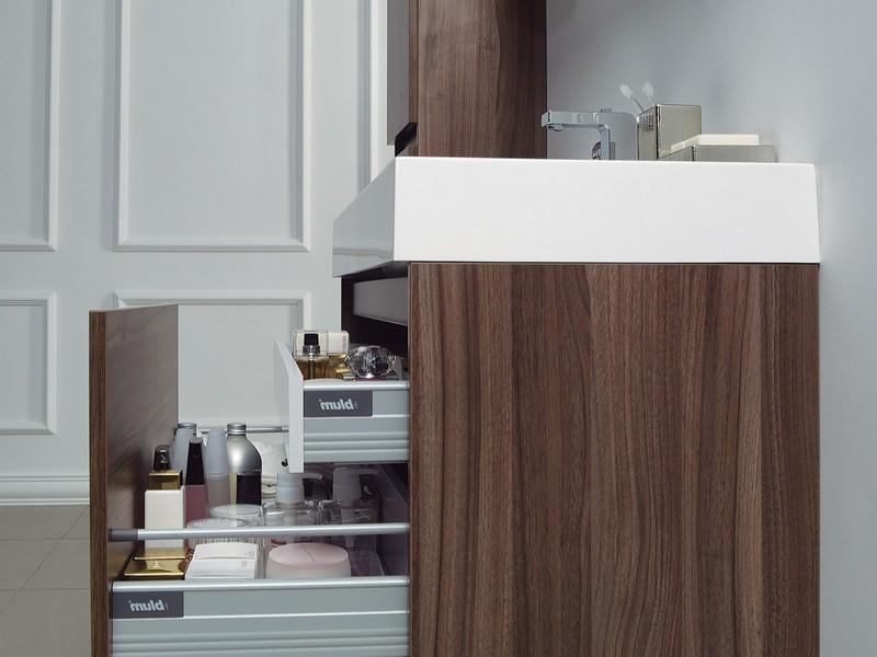 Walnut Bathroom Vanity Cabinet