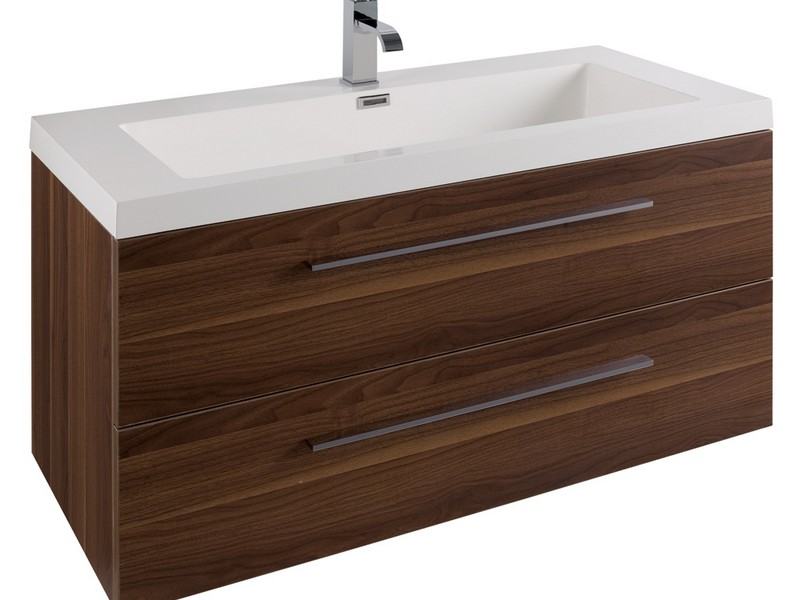 Walnut Bathroom Vanity Units Uk