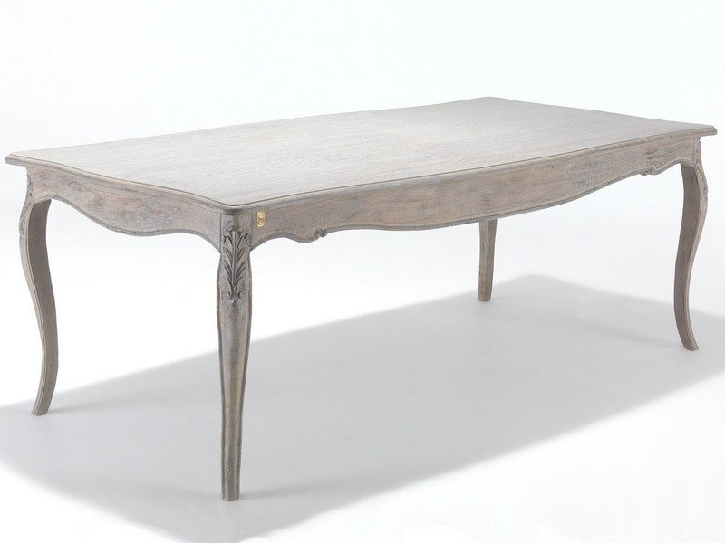 Weathered Grey Wood Dining Table