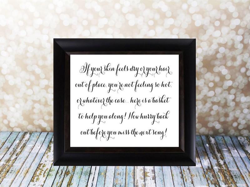 Wedding Bathroom Basket Poem