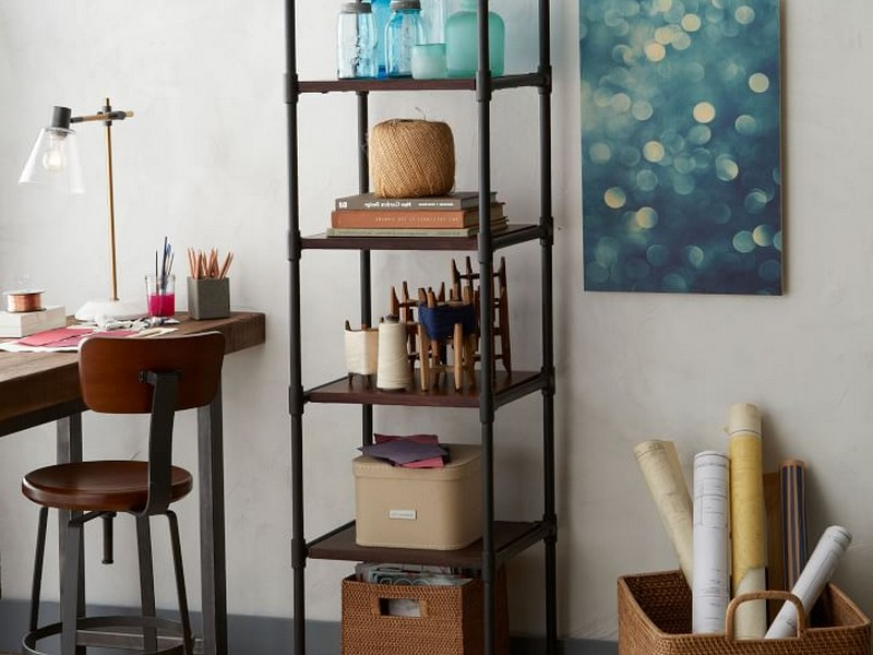 West Elm Tiered Bookcase