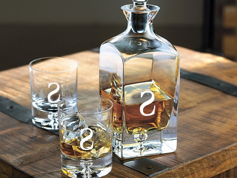 Whisky Decanter Set Engraved