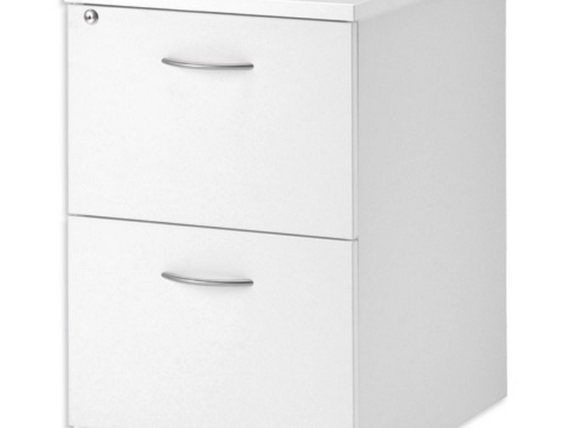 White 2 Drawer File Cabinet