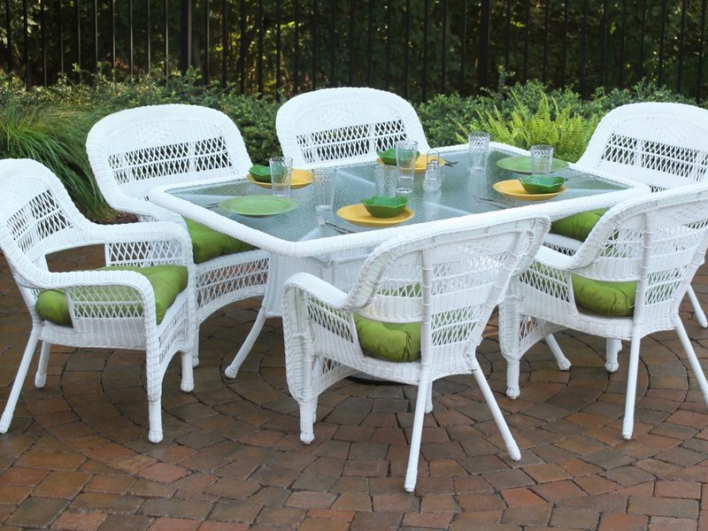 White Aluminum Patio Furniture Sets
