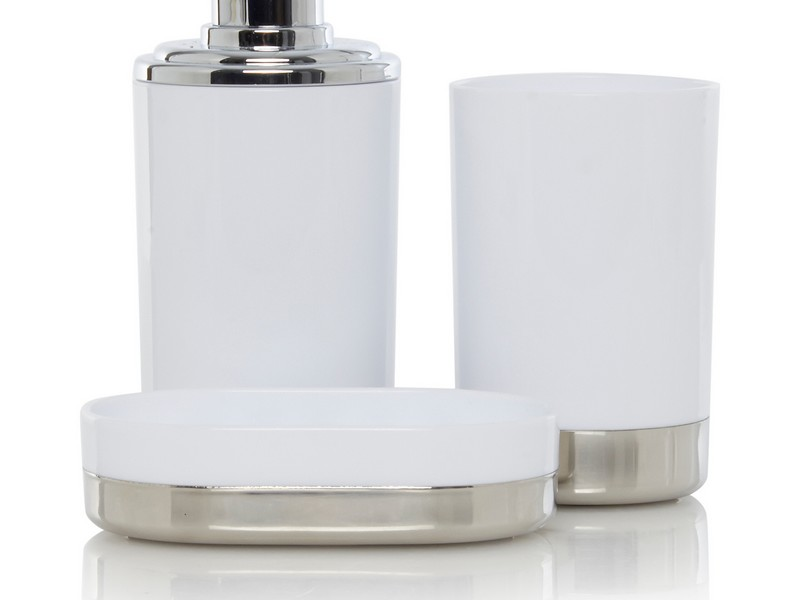 White And Chrome Bathroom Accessories