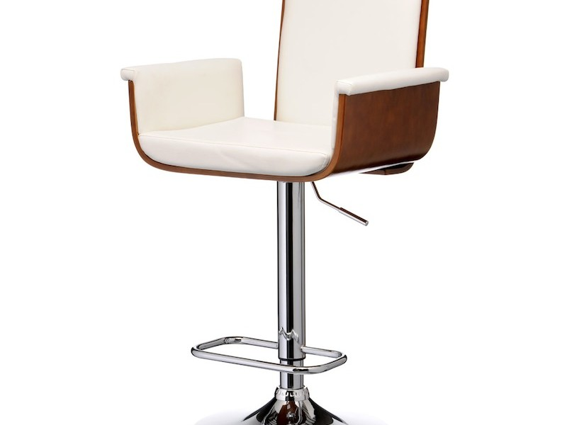 White Bar Stools With Backs And Arms