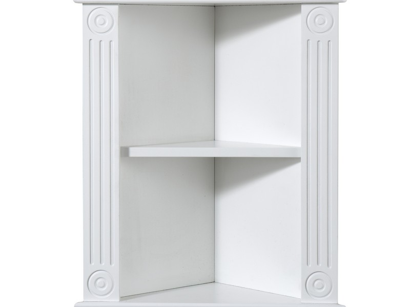 White Bathroom Corner Shelf Unit
