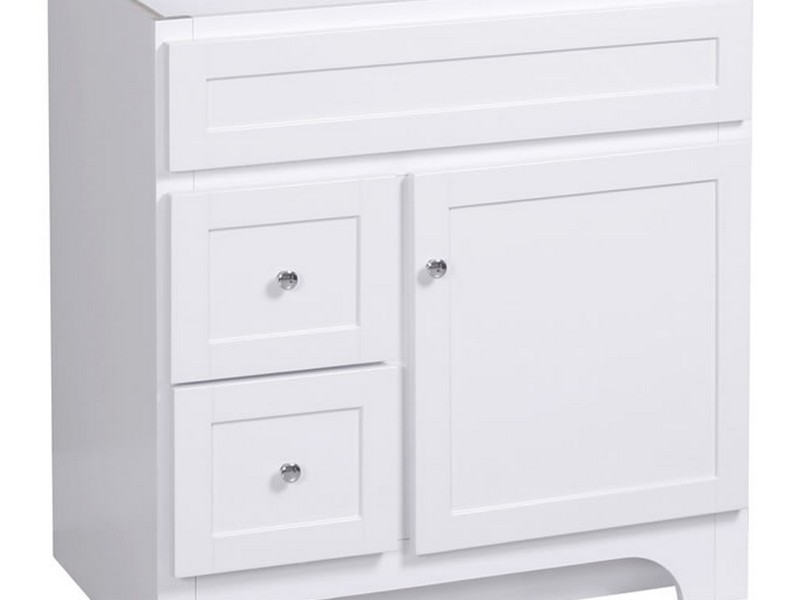 White Bathroom Vanity 30 Inches
