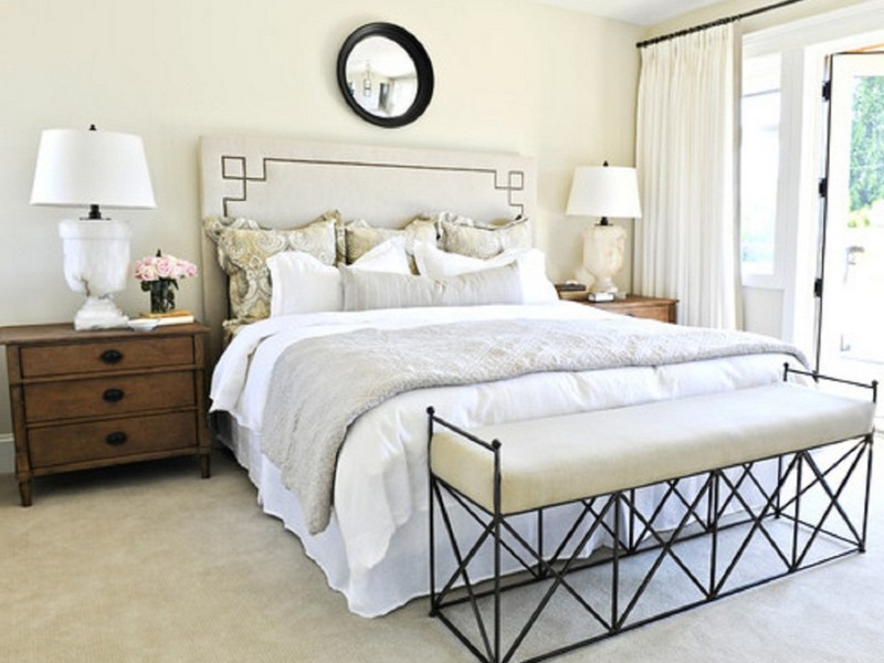 White Benches For Bedrooms