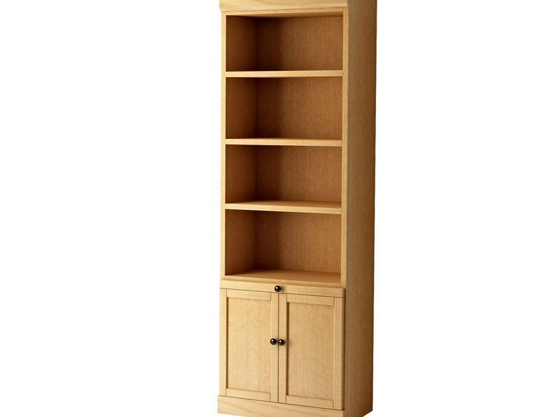 White Bookcases With Doors On Bottom