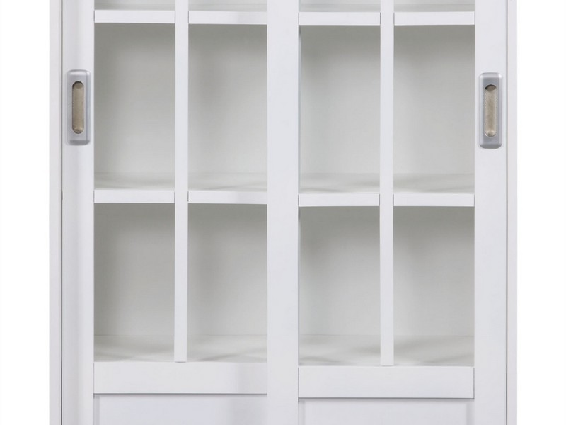 White Bookcases With Doors