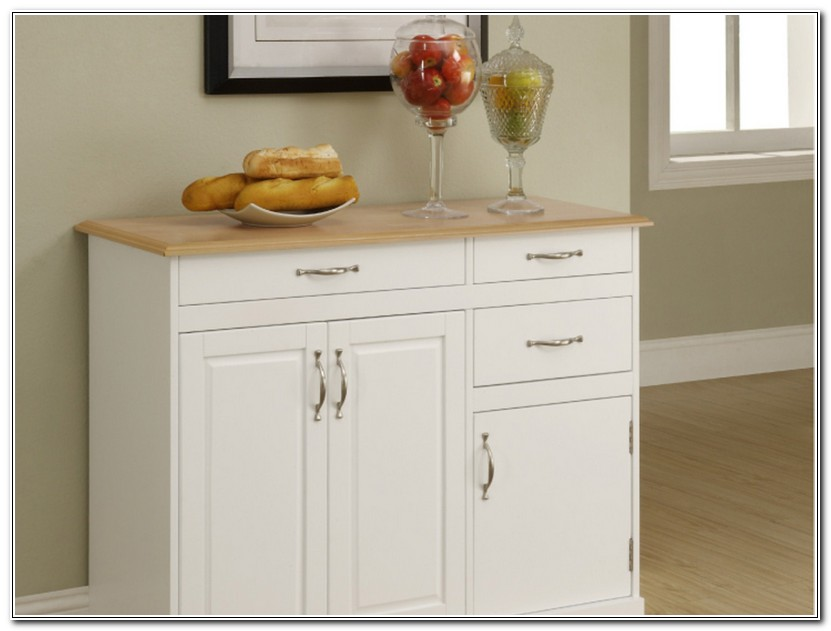 White Buffet Cabinet Furniture